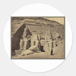 巨大な姿、Abu Sunbulの素晴らしい寺院 ラウンドシール