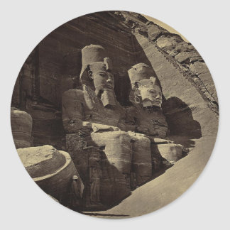 巨大な姿、Abu Sunbul、エジプト ラウンドシール