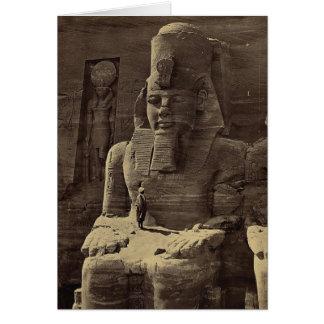 巨大な姿、Abu Sunbul、1856年頃エジプト カード