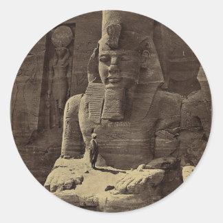巨大な姿、Abu Sunbul、1856年頃エジプト ラウンドシール