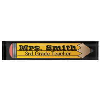 巨大な学校の鉛筆|の先生|DIYの文字 デスクネームプレート