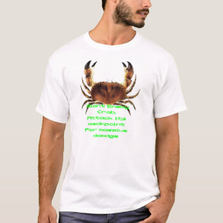巨大な敵のカニのTシャツ Tシャツ