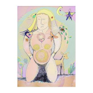 巨大な母性的な女性の多色刷りの抽象的な壁の芸術 アクリルウォールアート