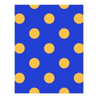 巨大な水玉模様-青のオレンジ レターヘッド