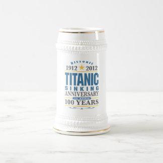 巨大な沈降の100年記念日 ビールジョッキ