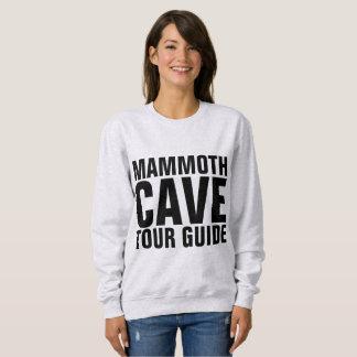 巨大な洞窟のツアー・ガイドのTシャツ及びスエットシャツ スウェットシャツ