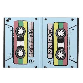 巨大な漫画の手描きのカセットテープ(A&B -青)