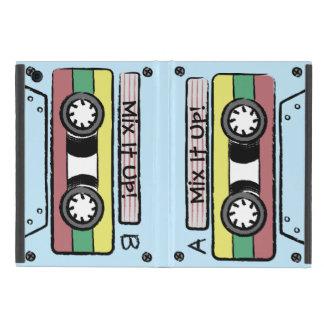 巨大な漫画の手描きのカセットテープ(A&B -青) iPad MINI ケース