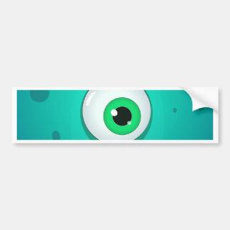 巨大な目を持つ緑のcyclopesモンスター バンパーステッカー