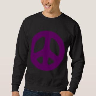 巨大な紫色のピースサインのワイシャツ スウェットシャツ