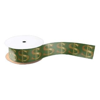 巨大な金ドル記号のリボン サテンリボン