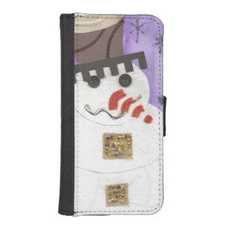 巨大な雪だるまの私電話5/5C財布 iPhoneSE/5/5sウォレットケース