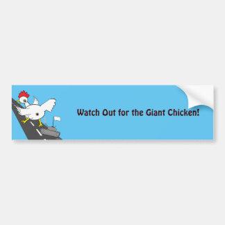 巨大な鶏! バンパーステッカー