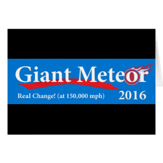 巨大な150,000 MPHの流星2016の実質の変更 カード