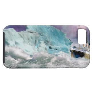 巨大なRMSおよび氷山の絵画 iPhone 5 CASE