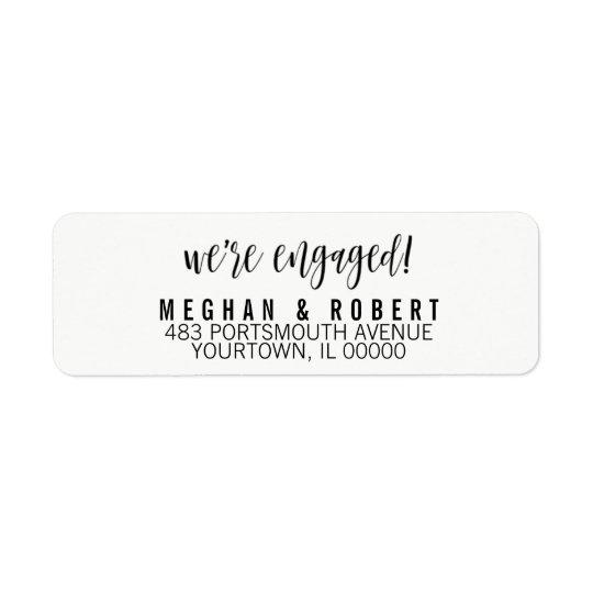 差出人住所ラベル私達は婚約したな婚約です 返信用宛名ラベル