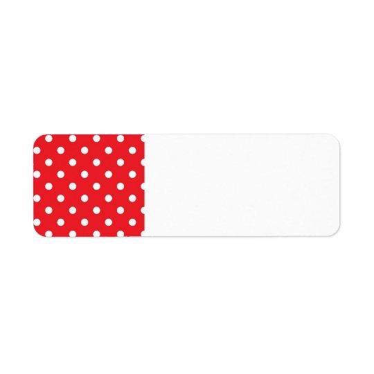 差出人住所ラベル: 民俗点を使って 返信用宛名ラベル