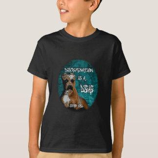 差別は病気、ピットブルのアンチBSLです Tシャツ