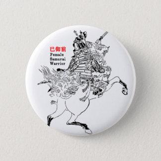 巴御前 Tomoe Gozen 5.7cm 丸型バッジ