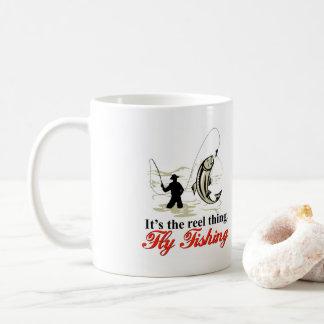 巻き枠のはえの魚釣りのマグ コーヒーマグカップ