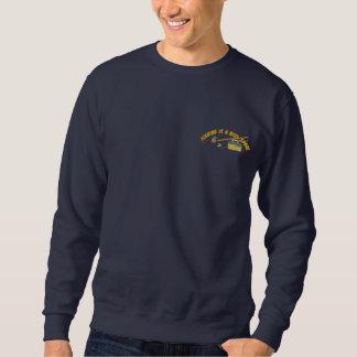 巻き枠のスポーツ 刺繍入りスウェットシャツ