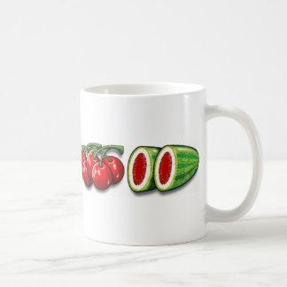 巻き枠のフルーツ コーヒーマグカップ