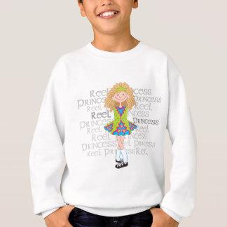 巻き枠のブロンドの女性 スウェットシャツ