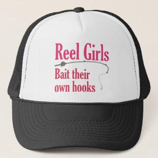 巻き枠の女の子のトラック運転手の帽子 キャップ