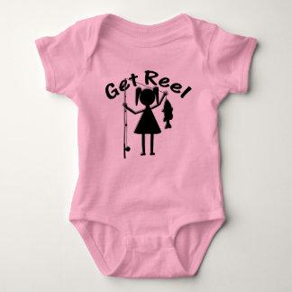 巻き枠-小さな女の子--を採取得て下さい ベビーボディスーツ
