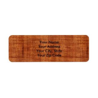 巻き毛のアカシアの木製の穀物の一見 ラベル