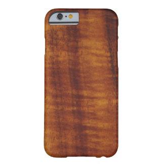巻き毛のハワイアンのKoaの木製のスタイル Barely There iPhone 6 ケース