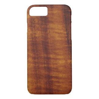巻き毛のハワイアンのKoaの木製のスタイル iPhone 8/7ケース
