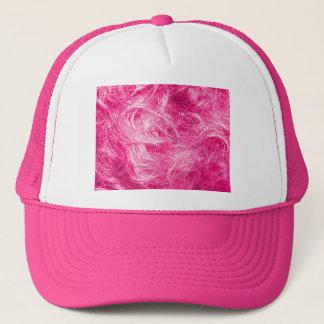 巻き毛のピンクの毛 キャップ