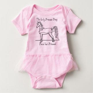 巻き毛のプリンセスの子馬は彼女のプリンセスを見つけました ベビーボディスーツ