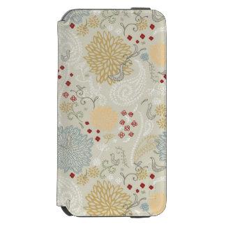 巻き毛の庭を表示するパターン iPhone 6/6Sウォレットケース