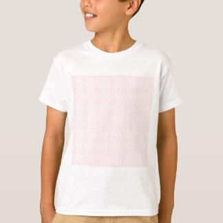 巻き毛の花模様-淡いピンクの白 Tシャツ