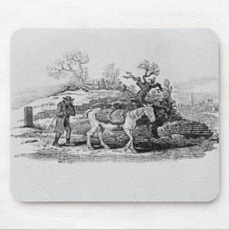市場に運ばれるガチョウ マウスパッド