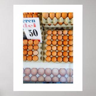 市場のオランダの写真の卵 ポスター