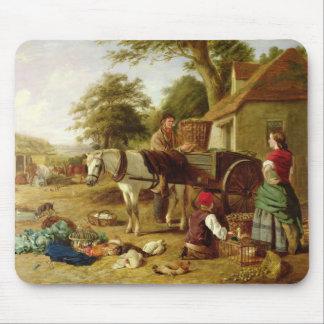 市場のカート1864年(キャンバスの油) マウスパッド