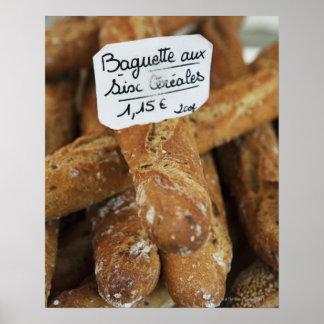 市場のフランス・パン ポスター