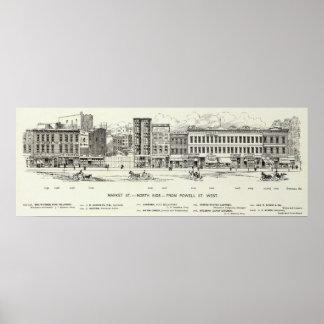 市場の北側面パウエル ポスター