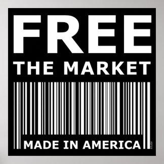 市場を解放して下さい ポスター