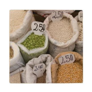 市場、Huaraz、コルディエラの豆の袋 ウッドコースター