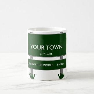 市境-世界の端5マイル コーヒーマグカップ
