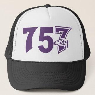 市外局番757city -紫色 キャップ