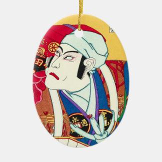 市川町Danjuro -俳優のポートレートのutagawaのkunisada セラミックオーナメント