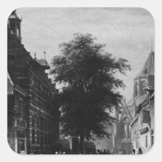 市庁舎およびコルネリス著Naardenの市場 スクエアシール