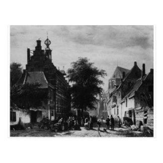 市庁舎およびコルネリス著Naardenの市場 ポストカード