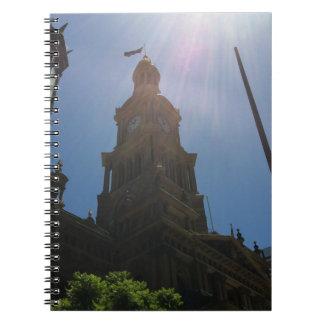 市庁舎の時計のノート ノートブック