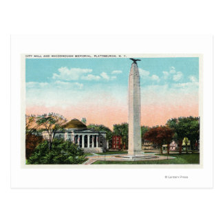 市役所およびMacDonoughの記念物の眺め ポストカード